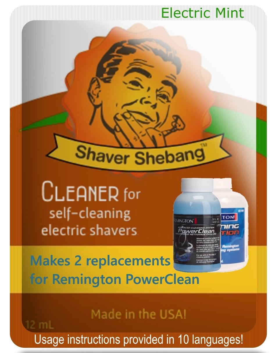 Remington® PowerClean Citrus & Mint, 4 bottles=2 pack Shaver Shebang Organek Living