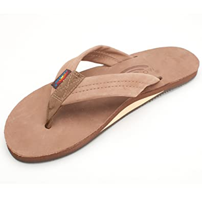 601d149c0bcd Image Unavailable. Image not available for. Color  Rainbow Sandals Men s  Single Layer Wide Strap