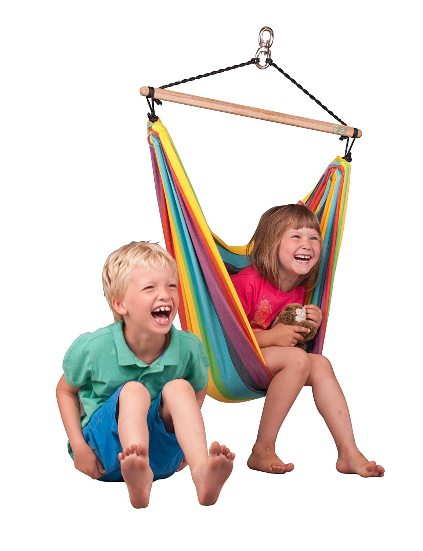 Rainbow La Siesta Iri Organic Cotton Hammock for Children
