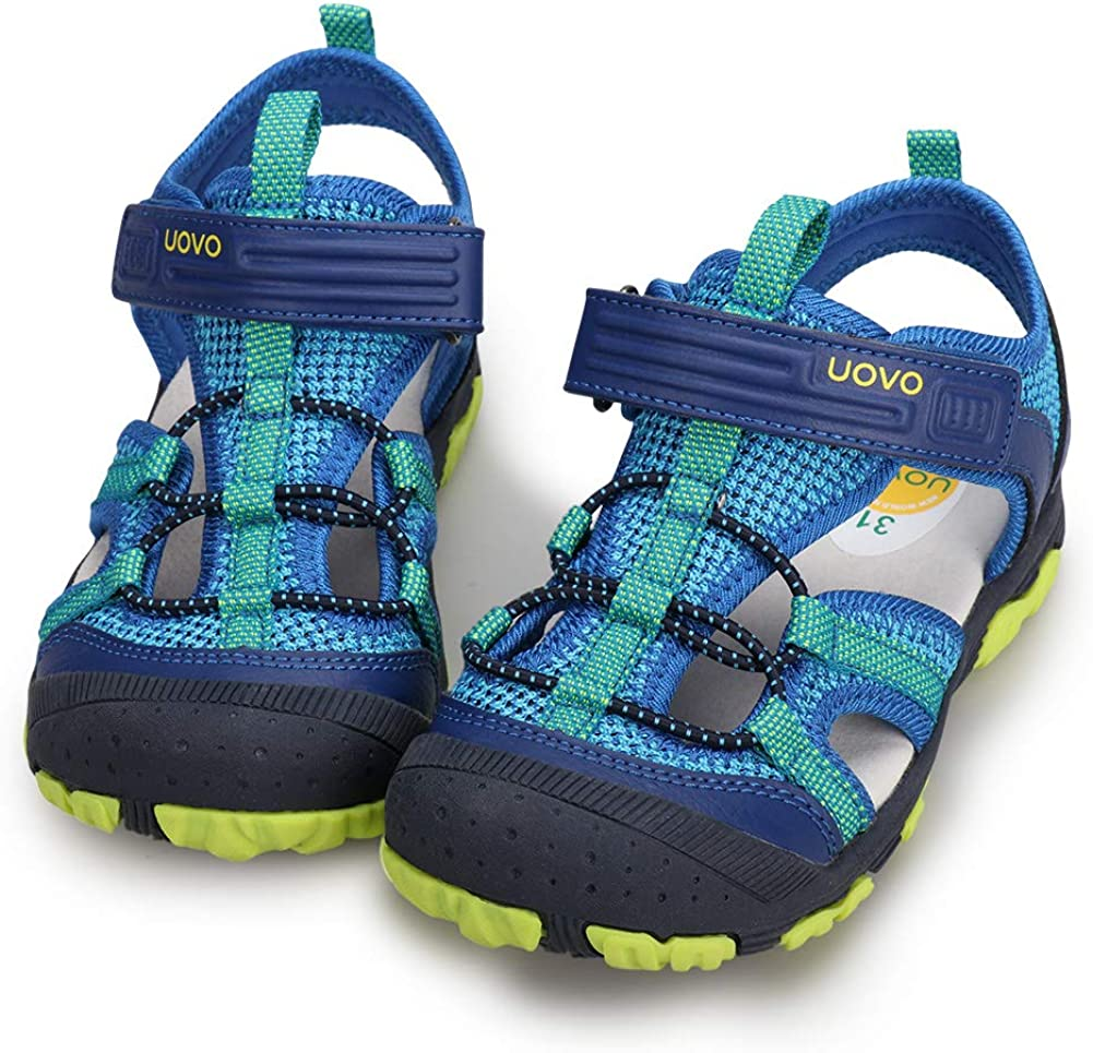 Amazon.com   UOVO Boys Sandals Kids Summer Sandals Toddler Little Boys  Closed Toe Athletic Hiking Outdoor Sport Sandals Size 6.5 Toddler to 3.5    Sandals