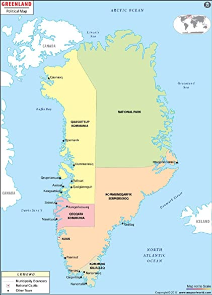 Amazoncom Greenland Political Map 36 W x 4999 H Office
