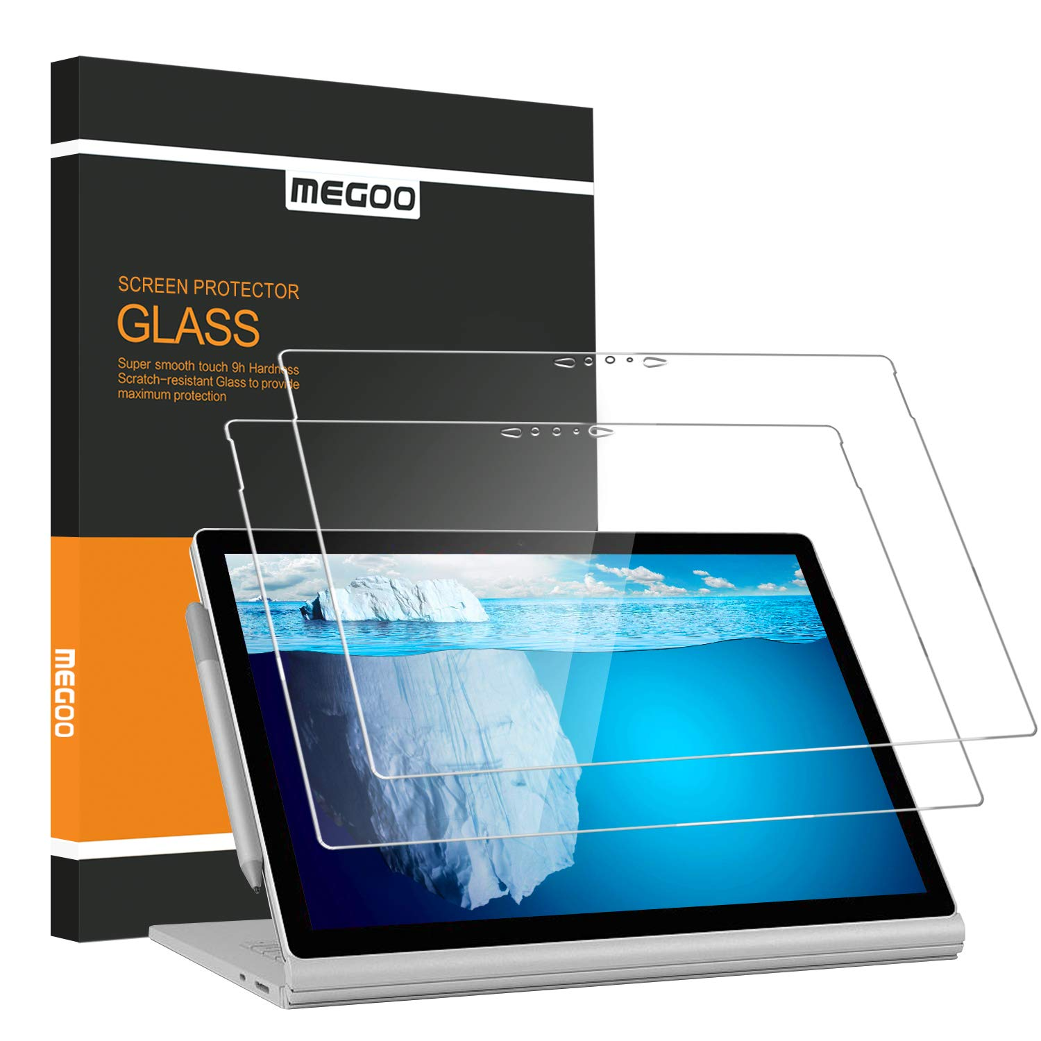 [2-Pack] Screen Protector for Microsoft Surface Book 2, 15 inch (2017/2018 Release), [HD Clear ] Anti-Scratch, Easy to Apply Lift Time Warrantey - for Surface Book 2-15 Inch