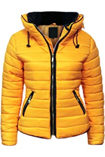 1a84256443e27 Malaika ® Ladies Quilted Padded Puffer Bubble Fur Collar Warm Thick Womens  Jacket Coat - Avaiable