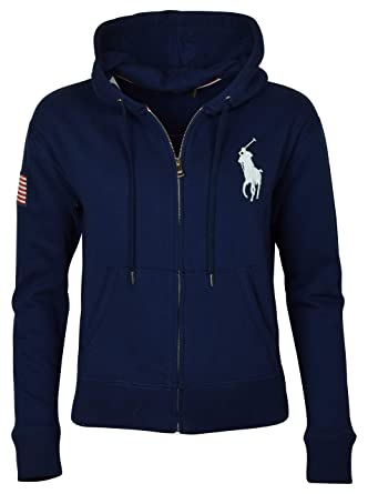 3fc6c3a49033 Polo Ralph Lauren Women s Big Pony USA Flag Logo Hoodie at Amazon Women s  Clothing store