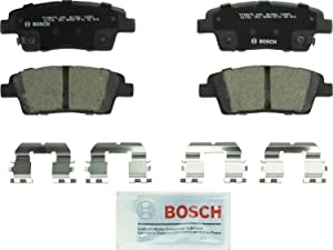 Bosch BC1551 QuietCast Premium Ceramic Disc Brake Pad Set For Genesis: 2017 G80; Hyundai: 2011-2016 Genesis; Kia: 2016-2017 K900; Rear