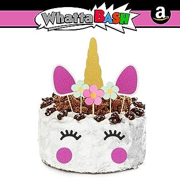 Amazon Com 10pcs Pink Unicorn Birthday Cake Cupcake Topper Set