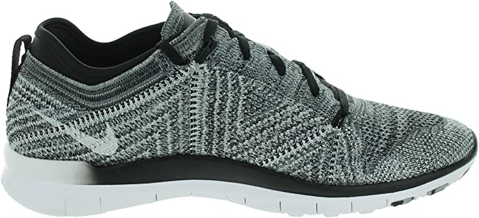 10,11 Nike Womens Free TR Flyknit Athletic Shoes Blk//Whit//Wolf Grey 718785-001