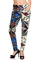 G2 Chic Women's Printed + Solid Harem Pants