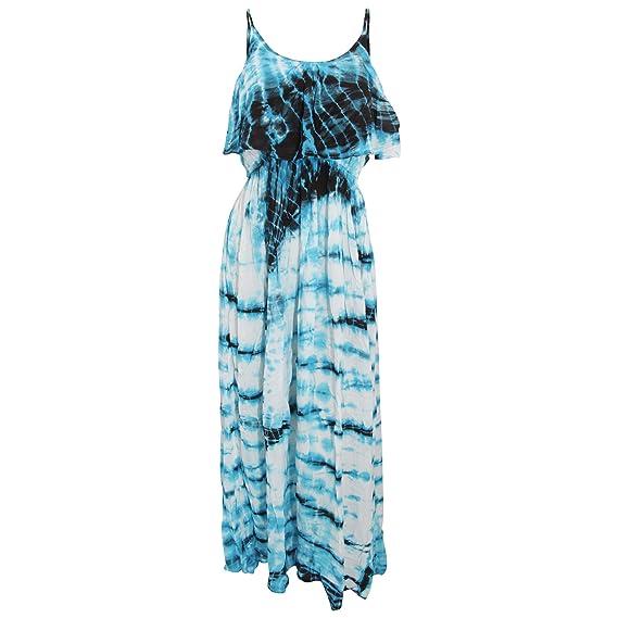 Universal Textiles Damen Maxi-Sommerkleid in Batik-Optik  Amazon.de ... 27c3d90c12