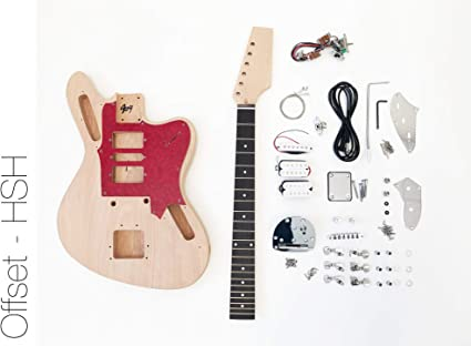 Kit de guitarra eléctrica DIY – Offset HSH construir su propio kit ...