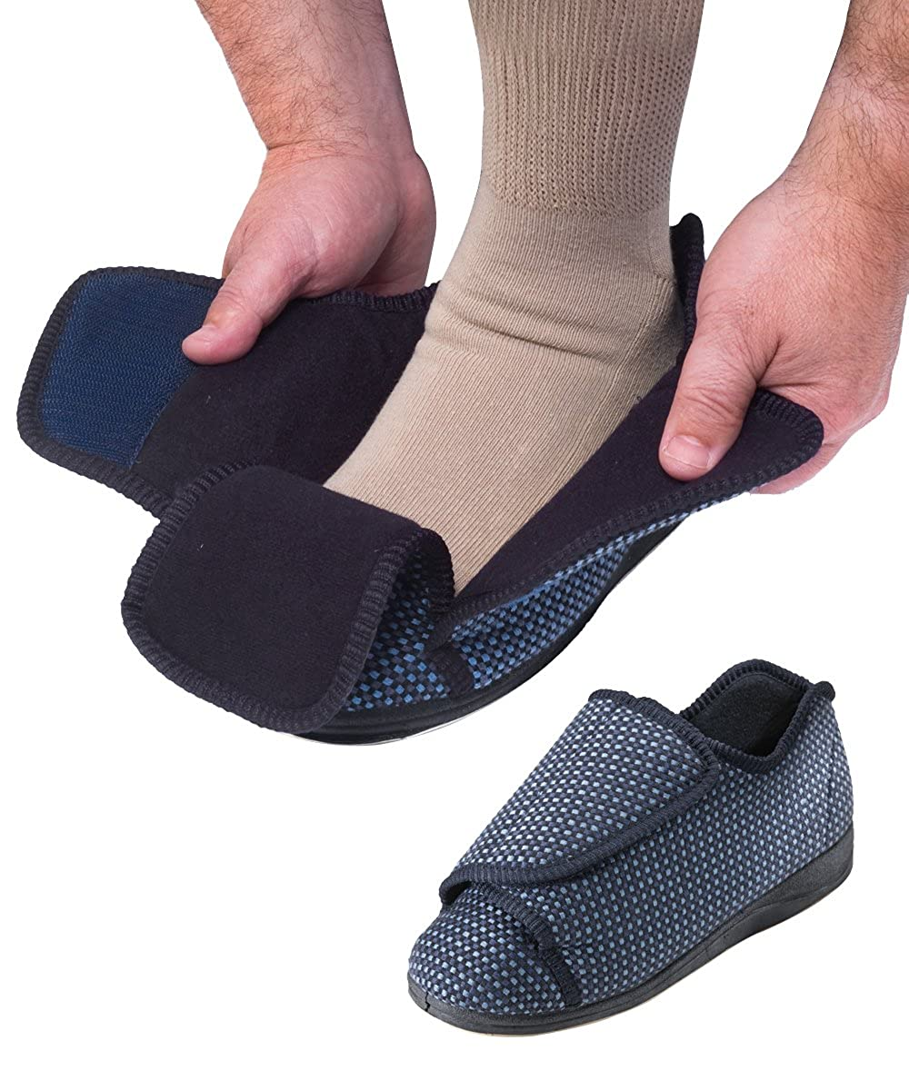 Mens Bedroom Slippers Wide Amazoncom Mens Extra Extra Wide Slippers Swollen Feet