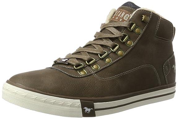 Mustang 4103-601-3, Sneaker a Collo Alto Uomo, Marrone (Braun 3), 41 EU