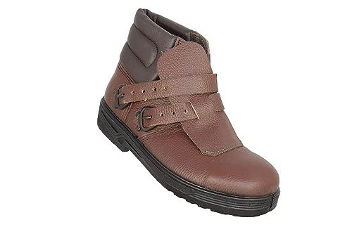 Jallatte Jalvesuve SAS S3 HRO SRC techadores Calza los Zapatos del Soldador de Alta Brown, Tamaño:39 EU: Amazon.es: Zapatos y complementos