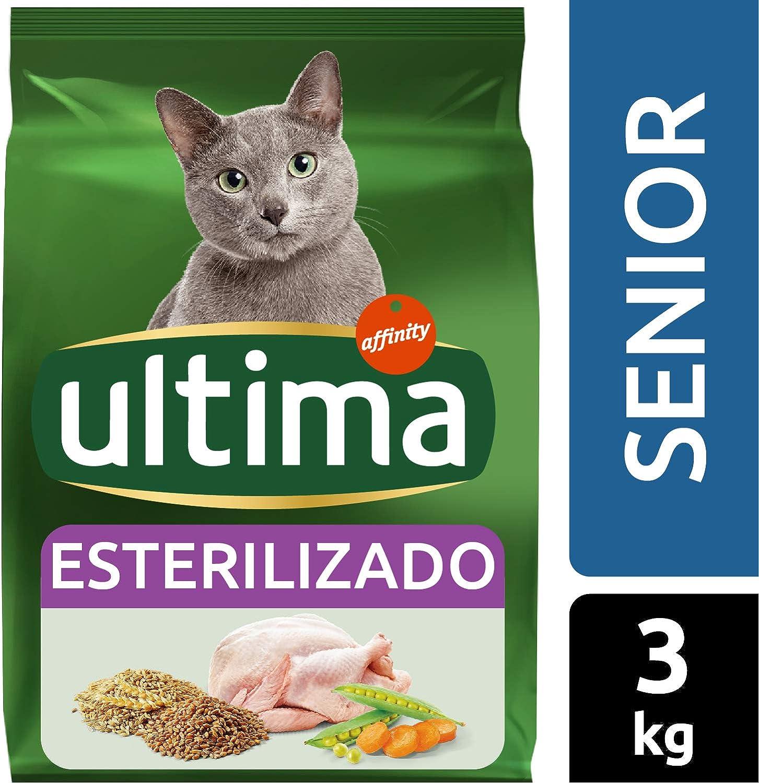 Ultima Pienso para gatos esterilizados senior + de 10 años, con ...