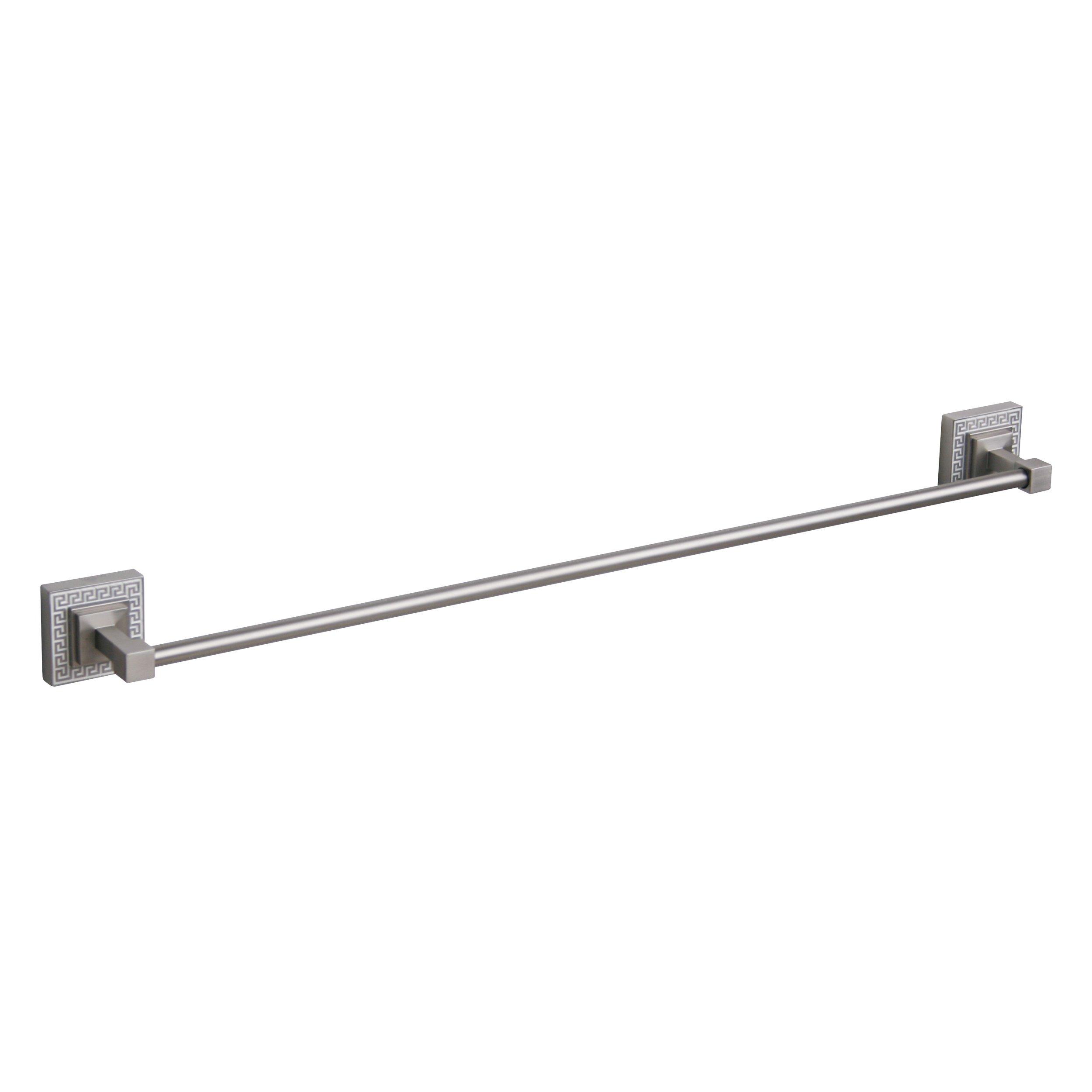 Elegant Home Fashions Greek Key 18-Inch Towel Bar, Brushed Nickel