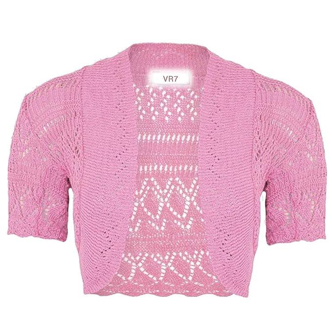 859e9f3f1c11 VR7 New Kids Girls Bolero Knitted Cardigan Shrugs Top Age  2 3 4 5 6 7 8 9  10 11 12 13 Years  Amazon.co.uk  Clothing