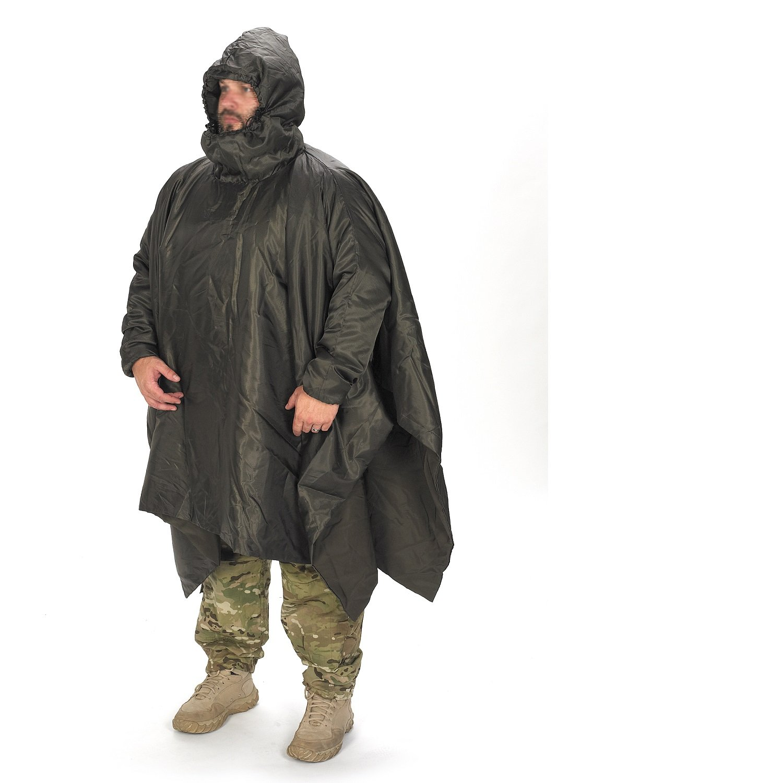 Snugpak Poncho Liner, Water Repellent, Lightweight, Dedicated Sleeves and Hood, Olive by Snugpak