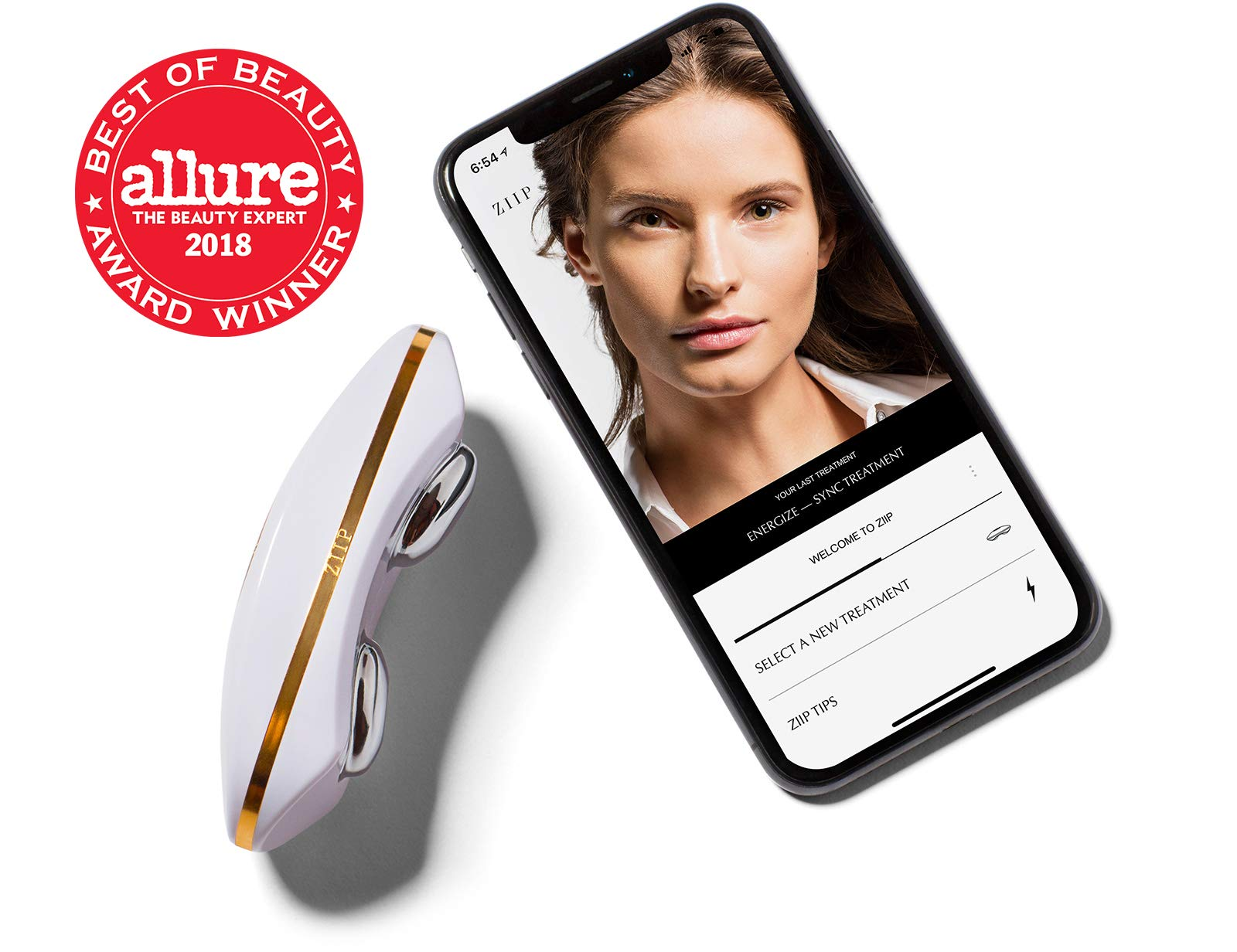 ZIIP Beauty Microcurrent Facial Device - Microcurrent Face Lift Machine For Lifting, Sculpting, and Skin Tightening, Wrinkles, Pigment, and Acne - An Alternative To A Microdermabrasion Machine