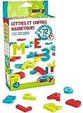 Smoby Toys, 430102, 72 Lettres et Chiffres Magnétiques, 24 Lettres Coloris Rouge, 24 Lettres Coloris Vert, 24 Chiffres et signes Coloris Bleu