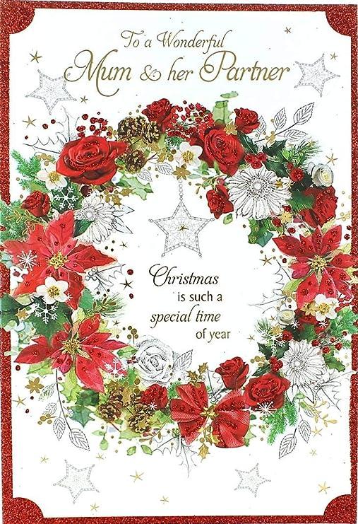 Cards Galore Online Tarjeta de Navidad para mamá y Pareja ...