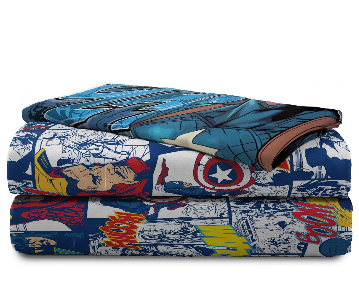 Jay Franco Marvel Avengers Publish 3 Piece Twin Sheet Set, by Jay Franco (Image #7)