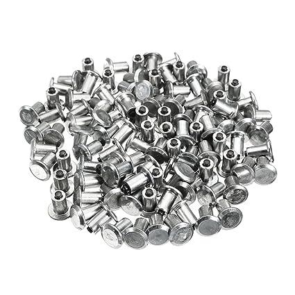 YONGYAO 100Pcs Coche Neumáticos Espárragos para Agujeros De Neumáticos Tornillo Nieve Espigas Rueda Neumáticos Cadenas De