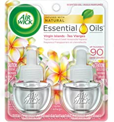 Air Wick Scented Oil 2 Refills, Virgin Islands, (2X0.67oz), Air Freshener
