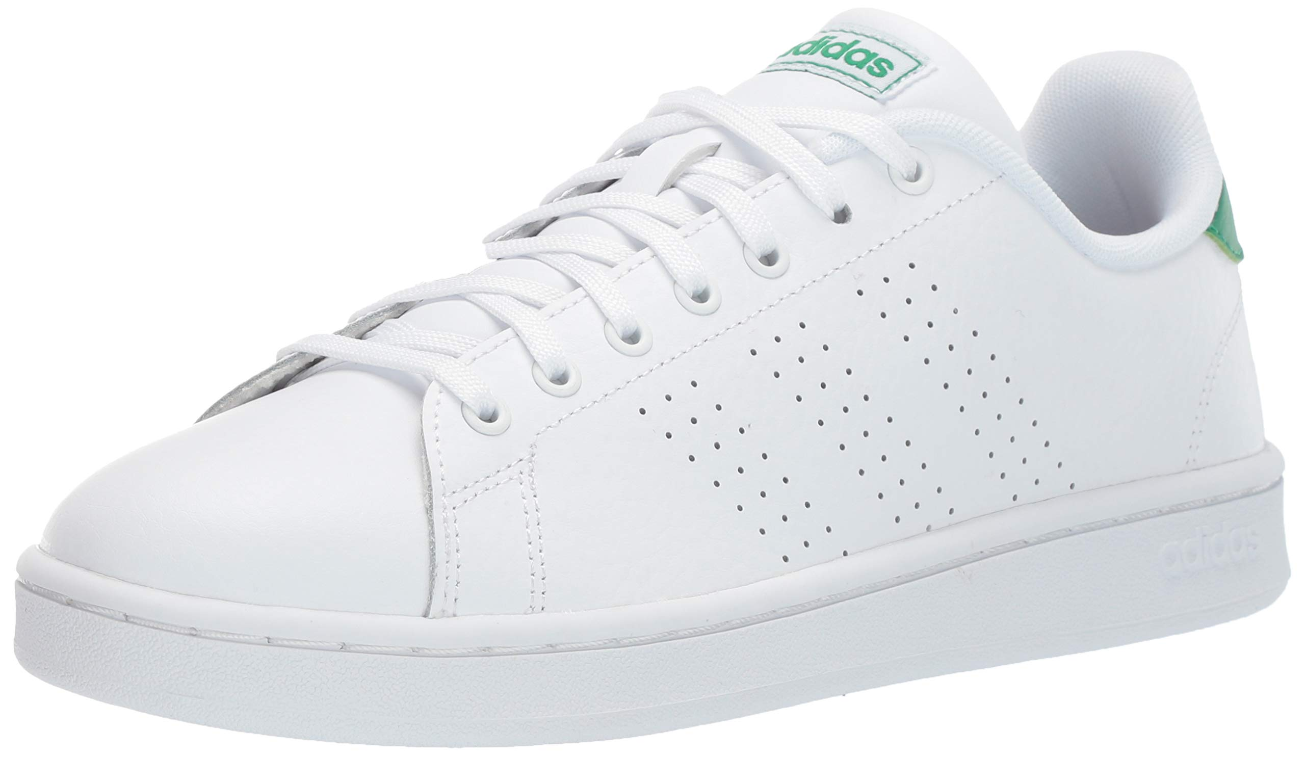 adidas Men's Advantage, White/Green, 4 M US