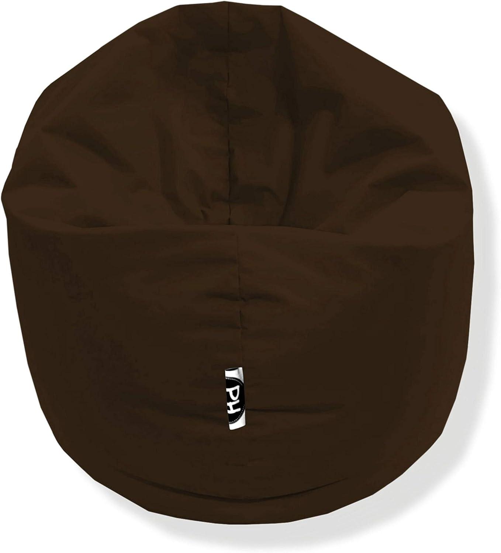Patchhome 2 in 1 Funktion Sitzsack Sitzkissen Bean Bag Lila Gr/ö/ßen 100cm Durchmesser in 25 Farben und 3 versch fertig bef/üllt