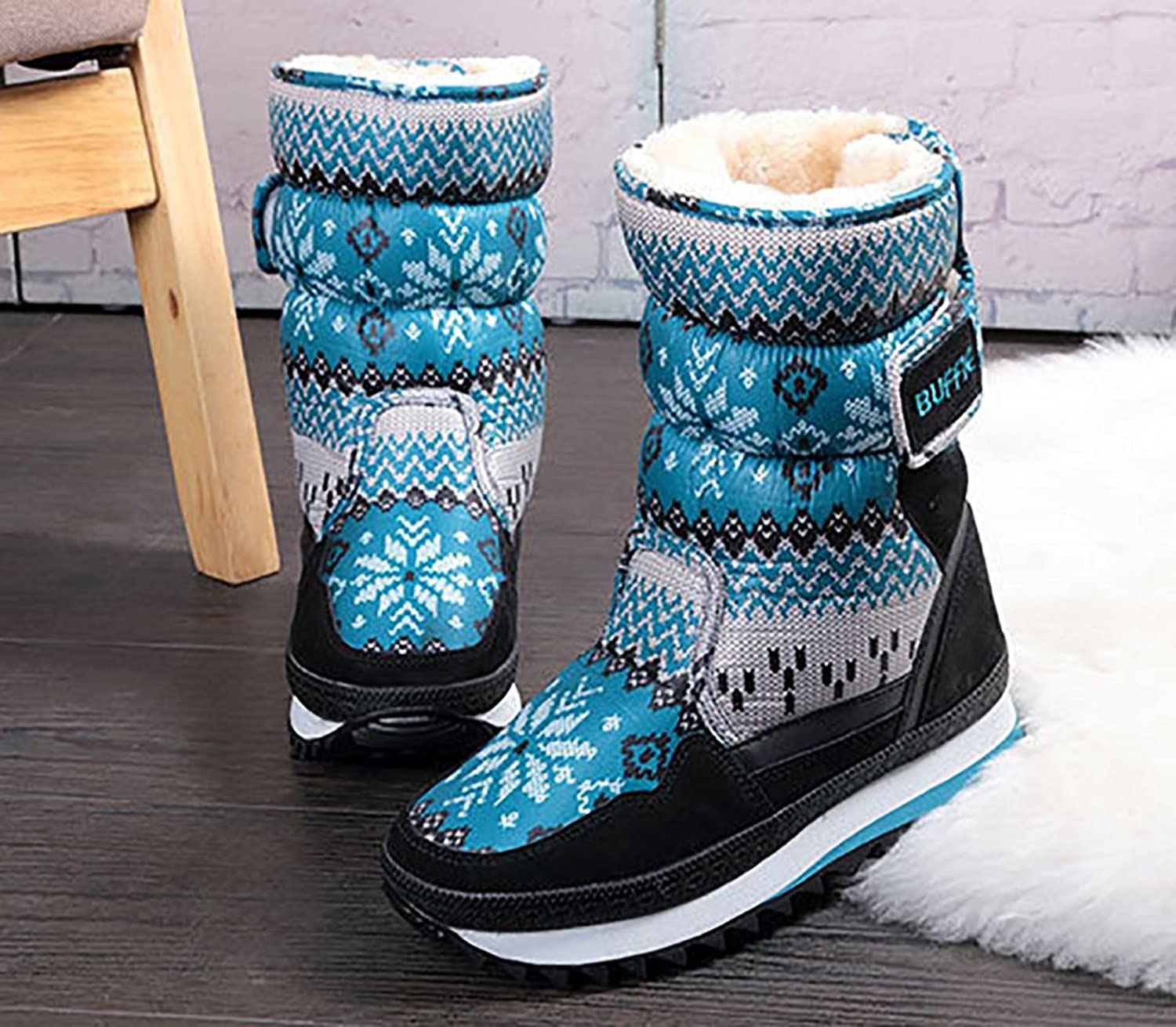 Faux Fur Lined Winter Snow Boots Family Themed Cold Weather Boots for Women  & Toddler & Kids: Amazon.co.uk: Shoes & Bags