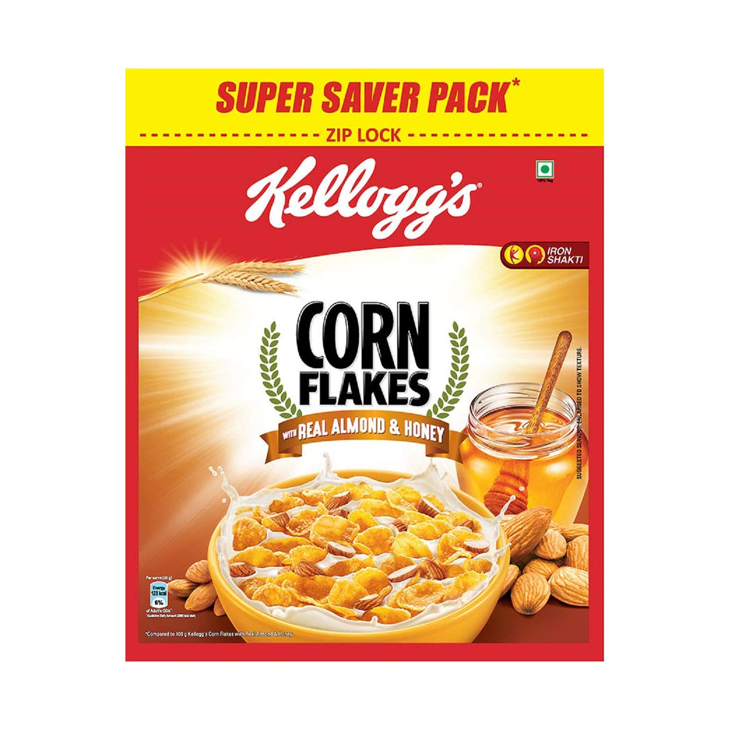 Kellogg's Corn Flakes Real Almond and Honey, 1 kg: Amazon.in ...
