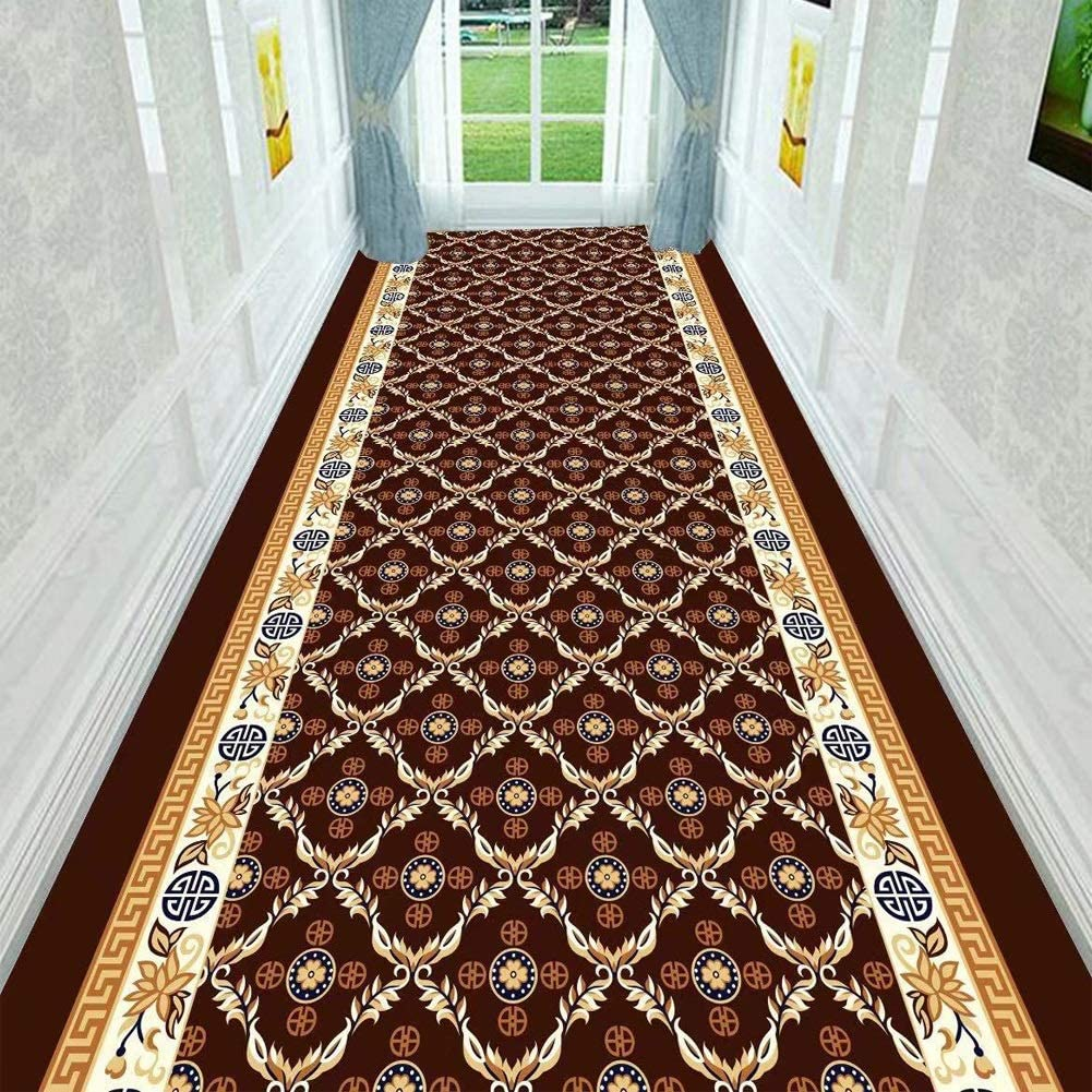 QTT Jacquard Runner Rugs Floral Throw Carpet Contemporary Printed Mat for Hallway Entryway Modern Home Dector Multi Size TTaN (Color : H, Size : 1X5m)