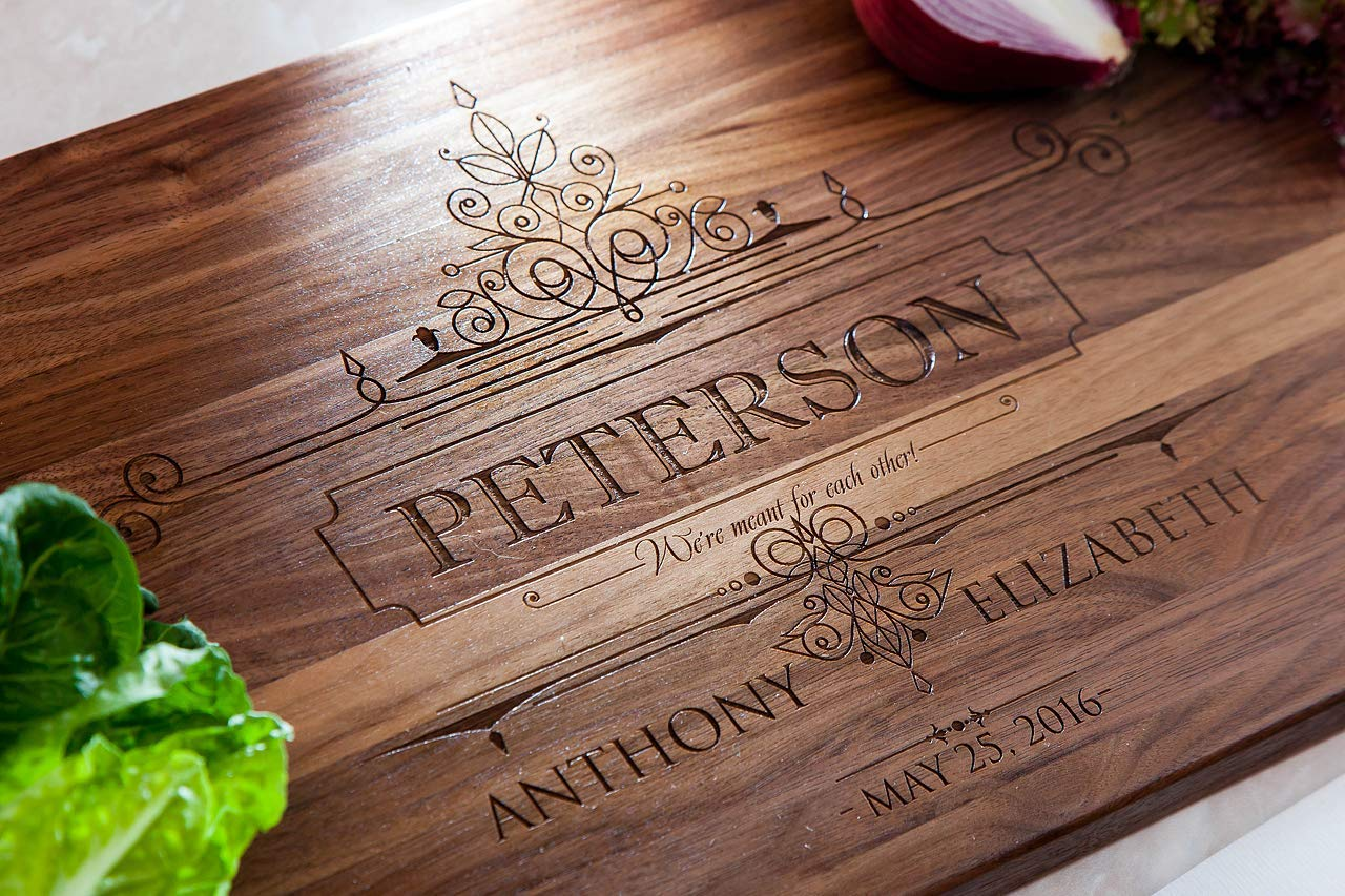 #10 Handmade Wedding Gift 1st Anniversary Anniversary Gift Personalized Cutting Board Engraved Board Wedding Anniversary Wood