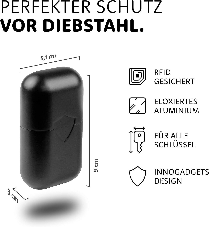 Adecuado para Todas Las Llaves de Coche RFID innoGadgets Keyless Go protecci/ón de Llaves de Coche Caja RFID Probada por el T/ÜV con un dise/ño Elegante