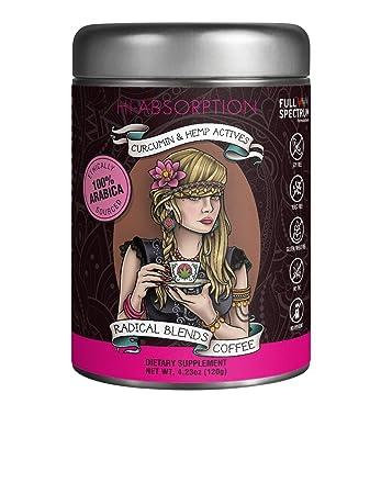 Radical blends coffee curcumin hemp actives dietary supplement 4.23 oz 120 g