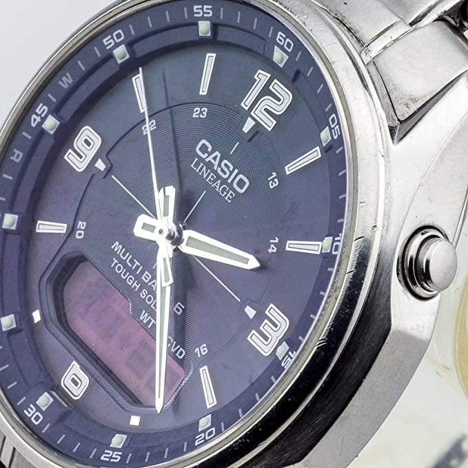 Casio Reloj Analogico-Digital para Hombre de Cuarzo con Correa en Acero Inoxidable LCW-M100DSE-2AER: Amazon.es: Relojes