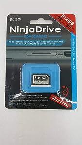 "BaseQi NinjaDrive Aluminum 256GB Storage Expansion Card for MacBook Pro Retina 13"" (iSDM303MASV - 256GB)"