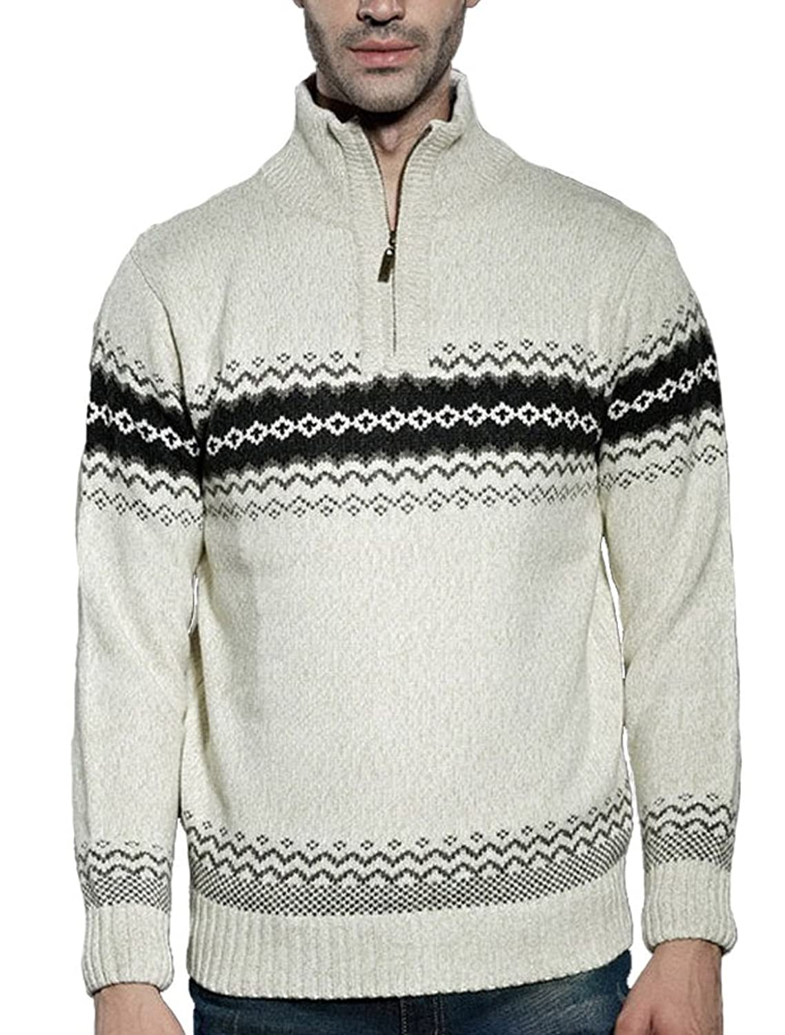 MatchLife Men's New Pullover Jumper Knitted Sweater Top