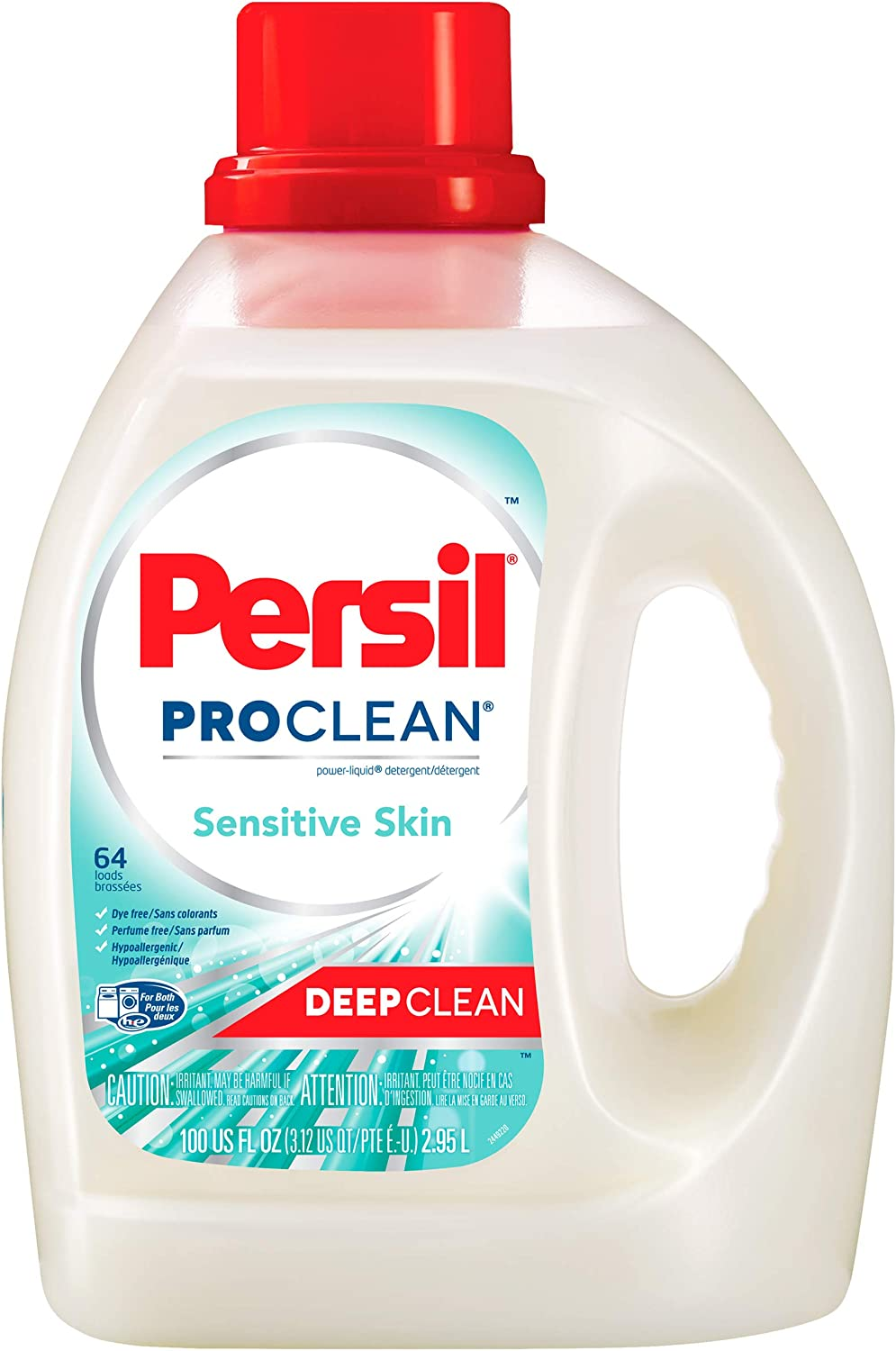 Persil ProClean Power-Liquid Laundry Detergent, Sensitive Skin, 100 Fluid Ounces, 64 Loads