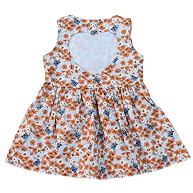 bd4ef00492e Sallyshiny Kids Baby Girls Flower Dress Love Heart Party Wedding Birthday Summer  Dresses Back Hollow Outfit  Amazon.co.uk  Clothing