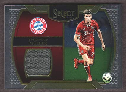 5baff5e3 Image Unavailable. Image not available for. Color: 2016-17 Panini Select  Soccer Memorabilia #M-TM Thomas Muller Jersey ...