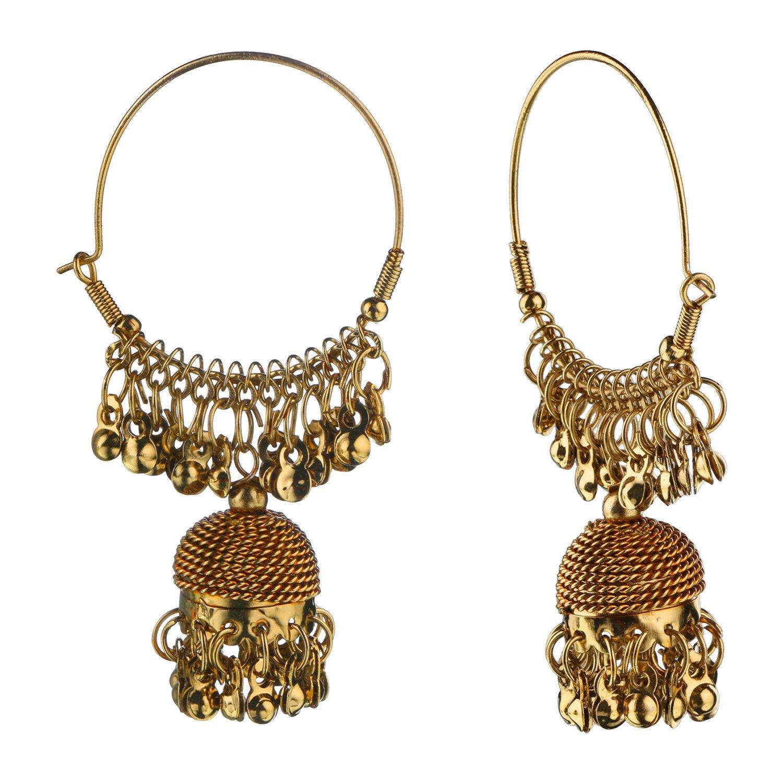 Efulgenz Boho Jewelry Indian Oxidized Gold Vintage Retro Ethnic Dangle Tribal Tibetan Gypsy Dangle Earrings for Girls Women