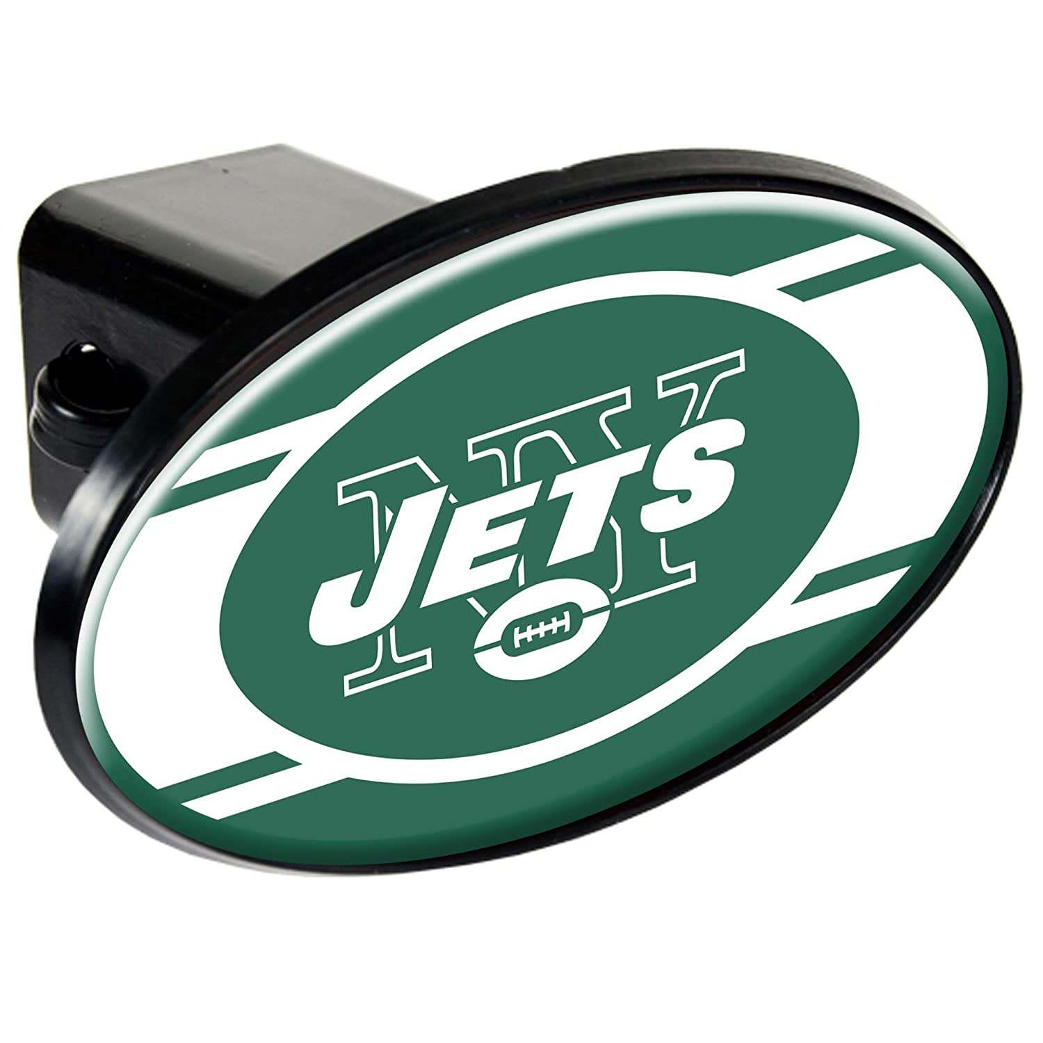 New York Jets 2 NFL Trailer Hitch Receiver Cover ABS Plastic