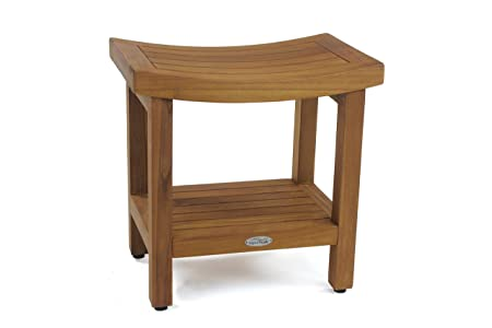 The Original Sumba 18u0026quot; Teak Shower Bench With Shelf