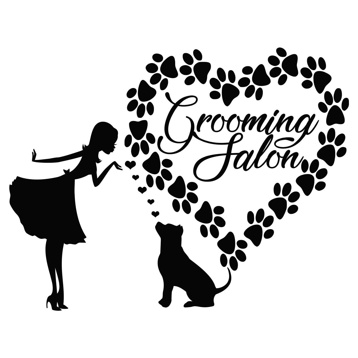 Dog and Cat Pet Silhouette Wall Stickers Vinyl Decal Car Window  Decor Removable