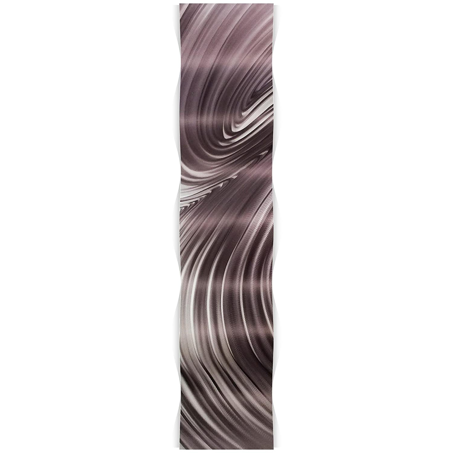 Wavy Metal Art Modern Wall Sculpture Eclectic Home Accent Curved Abstract Decor