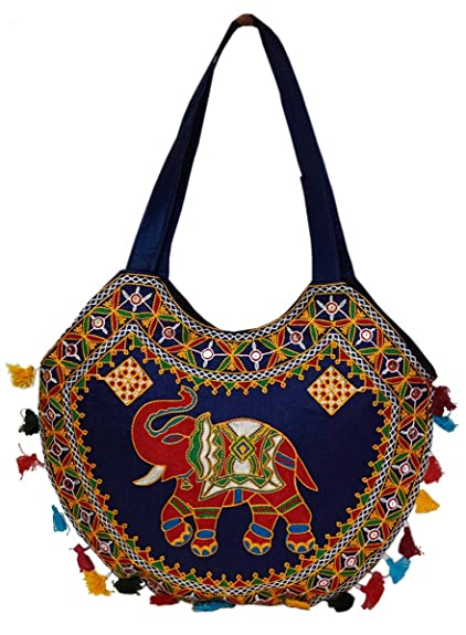 2c16b8b877fd Groovy Classy Rajasthani Hand Crafted & Embroidery Elephant Design Handbag:  Amazon.in: Shoes & Handbags