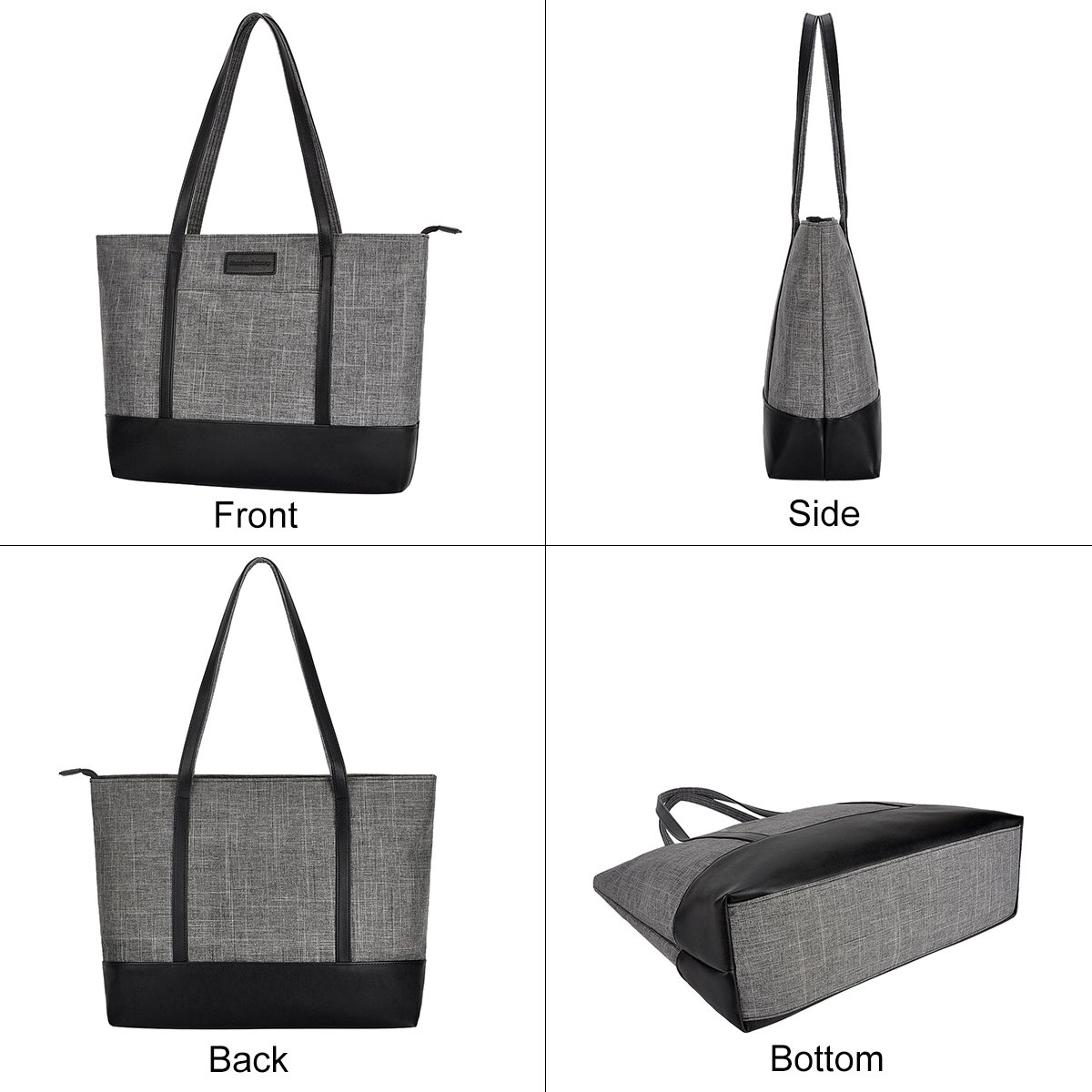 49f0d331e97a Amazon.com: Laptop Tote Bag,Fits 15.6 Inch Laptop,Womens Lightweight Water  Resistant Nylon Tote Bag Shoulder Bag (Gray): Shoes