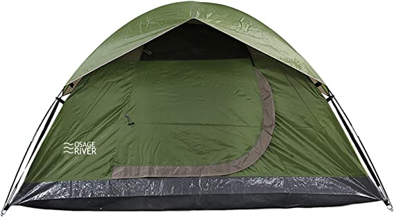 OSAGE RIVER Glades Camping Tent with Waterproof Rainfly