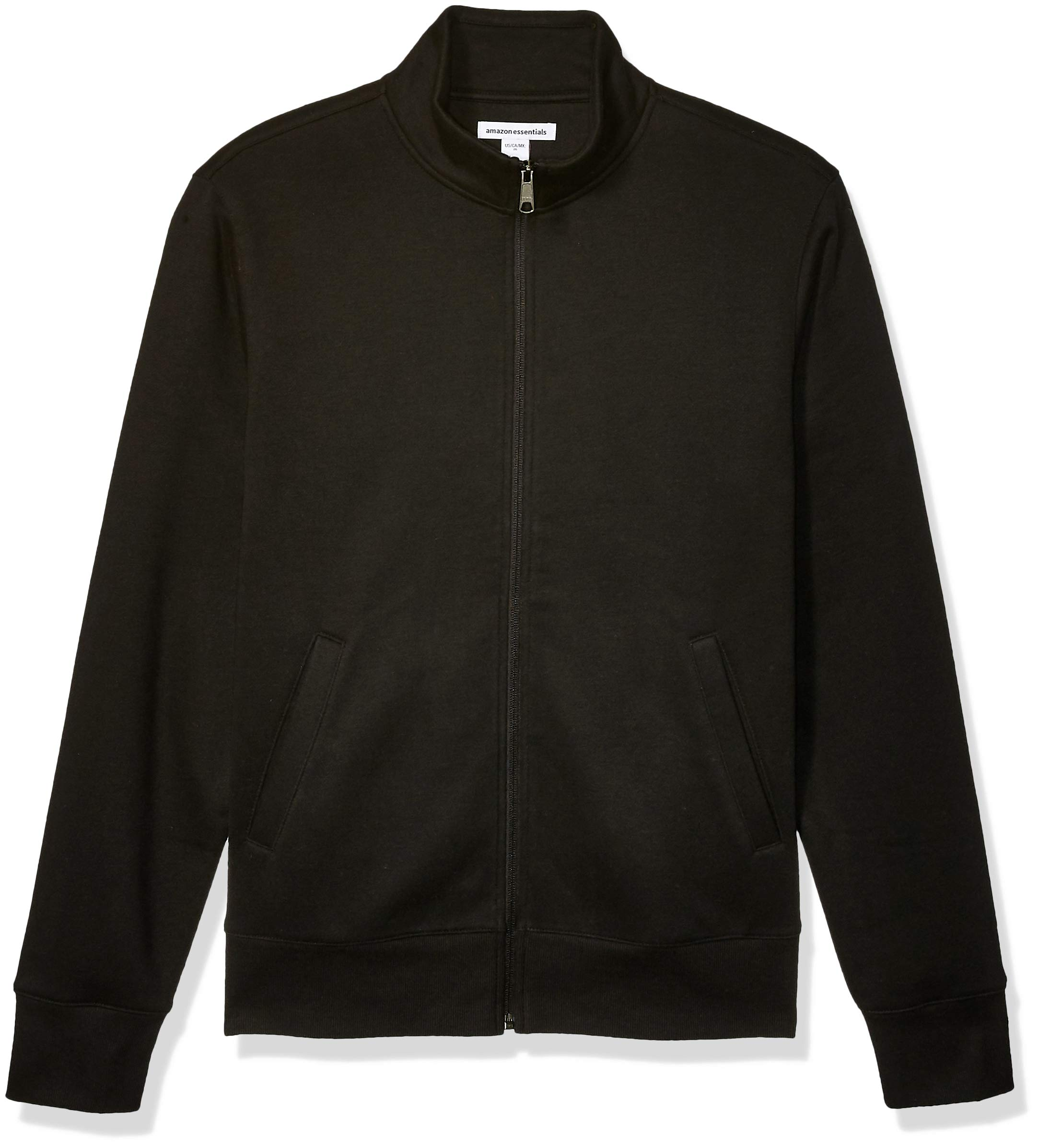 Amazon Essentials Men's Full-Zip Fleece Mock Neck Sweatshirt, Black, X-Large by Amazon Essentials